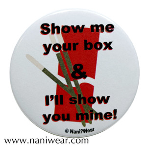 Pocky Inspired Button: Show Me Your Box
