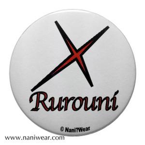 Rurouni Kenshin Inspired Button: Rurouni X