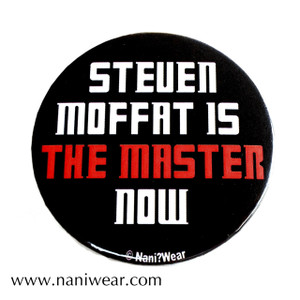 Sherlock & Doctor Who Button: Steven Moffat is The Master Now!