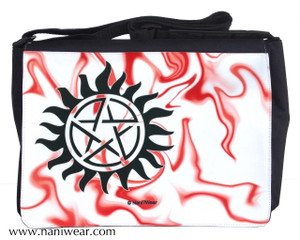 Supernatural Inspired Messenger/Laptop Bag: Anti-Possession Sign