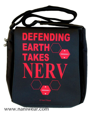 Evangelion Inspired Medium Messenger Bag: Defending Earth takes NERV