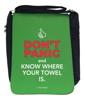 Hitchhiker's Guide Inspired Medium Messenger Bag: Don't Panic