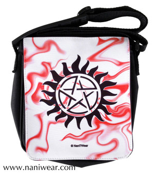 Supernatural Inspired Small Messenger Bag: Anti-Possession Sign