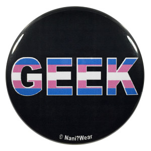 Transgender Pride Geek 2.25 Inch Button