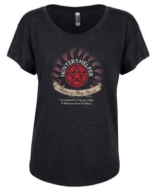 Supernatural Women's Dolman T-Shirt Hunters Helper