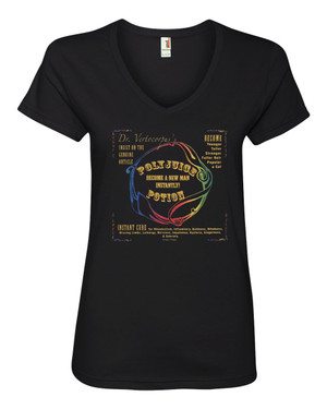 Harry Potter Women's V-Neck Fitted T-Shirt Polyjuice Potion