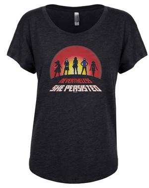 Marvel Super-Heroines Women's Dolman T-Shirt Nevertheless She Persisted