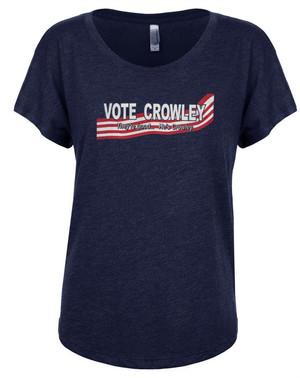 Supernatural Women's Dolman T-Shirt Vote Crowley