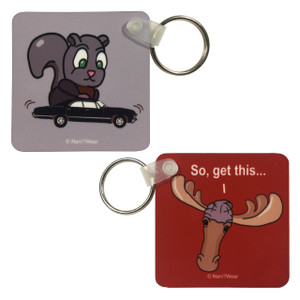 Supernatural Double-Sided Square Keychain Moose & Squirrel