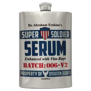 Captain America Flask Dr. Erskine's Super Soldier Serum