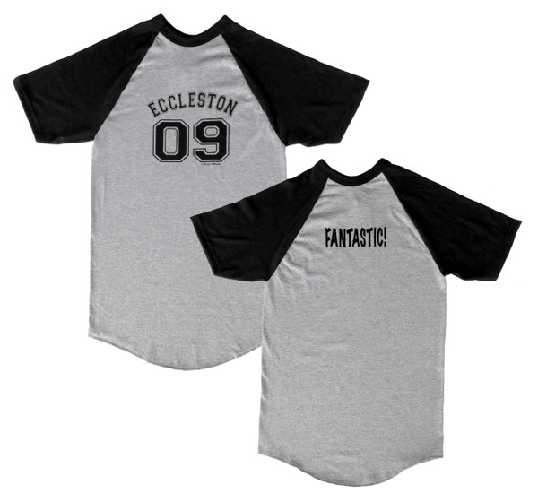 Doctor Who Inspired 9th Doctor Short Sleeve Baseball Jersey