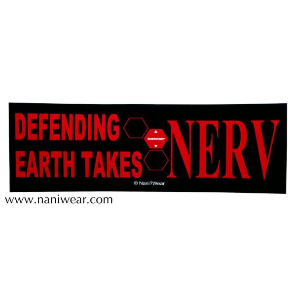 Evangelion Inspired Bumper Sticker: Defending Earth takes NERV