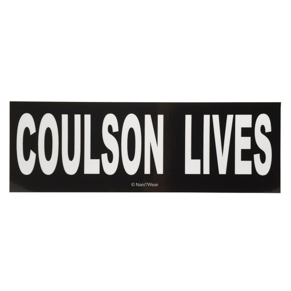 SHIELD Inspired Bumper Sticker: COULSON LIVES
