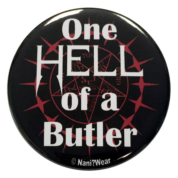 Black Butler Inspired Button: One Hell of a Butler