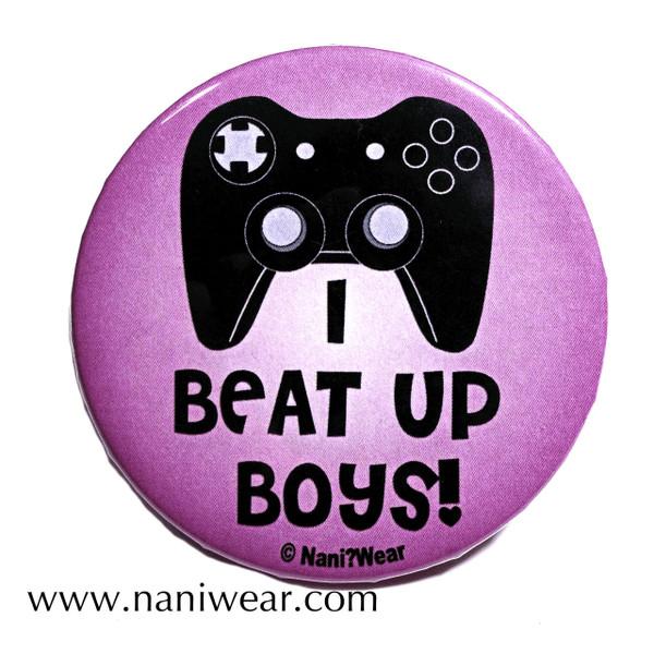 Gamer Button: I Beat Up Boys