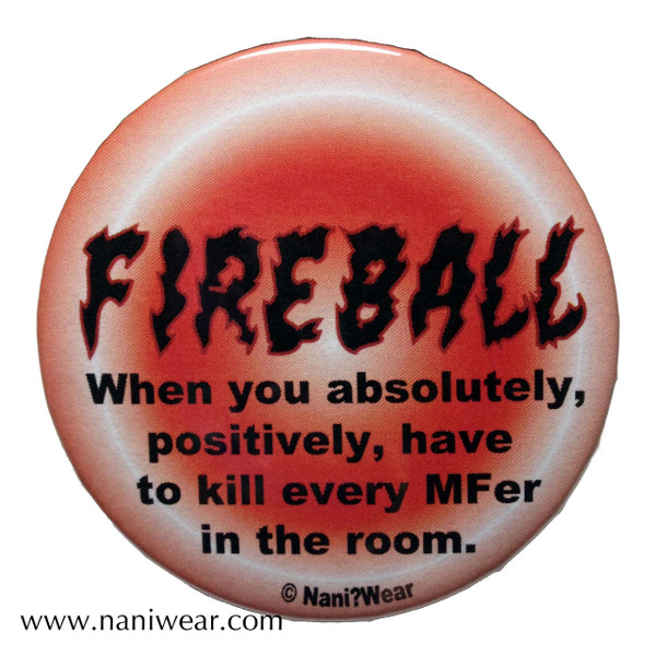 Slayers Inspired Button: Fireball