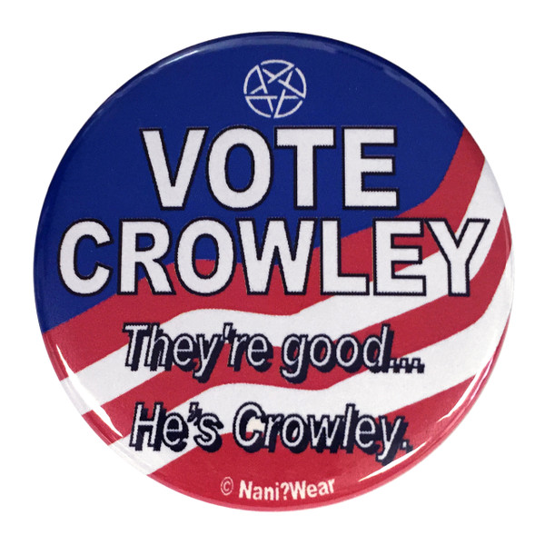 Supernatural Inspired Button: Vote Crowley