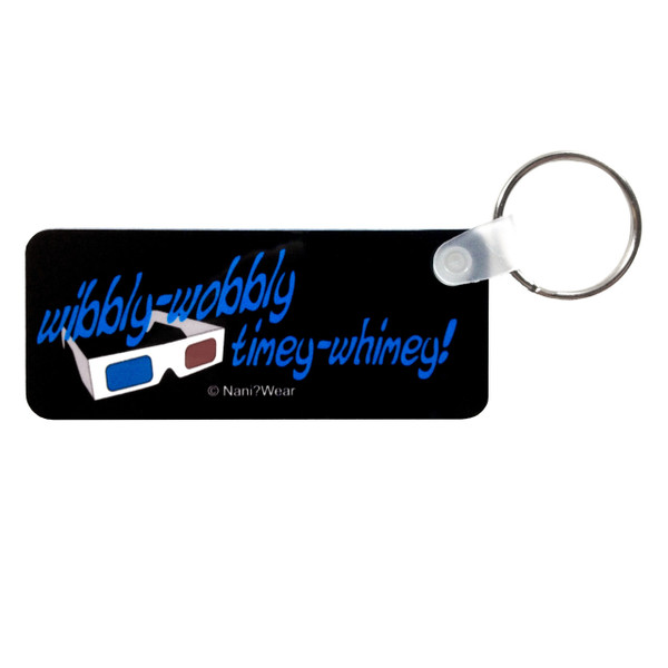 Doctor Who Inspired Long Keychain: Wibbly-Wobbly Timey-Wimey