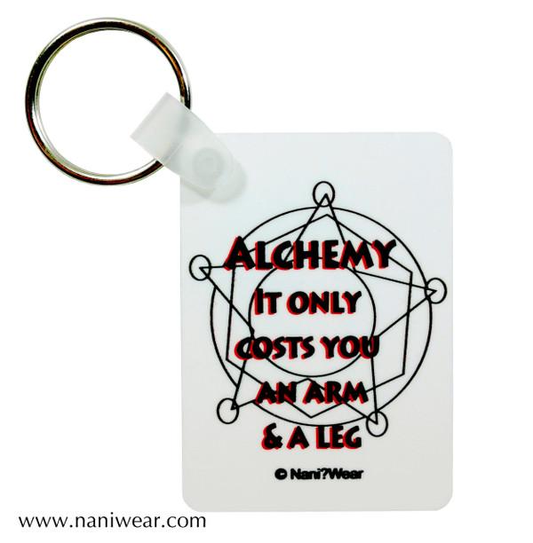 Fullmetal Alchemist Inspired Keychain: Alchemy Costs Arm & Leg