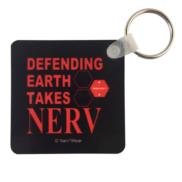 Evangelion Inspired Square Keychain: Defending Earth takes NERV