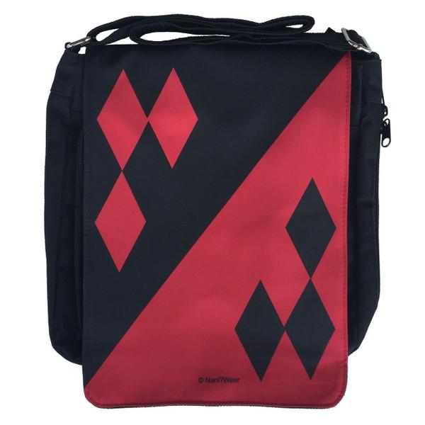Harley Quinn Inspired Medium Messenger Bag