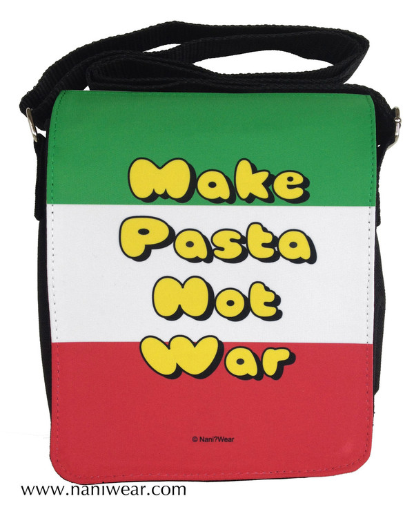 Hetalia Inspired Small Messenger Bag: Make Pasta Not War