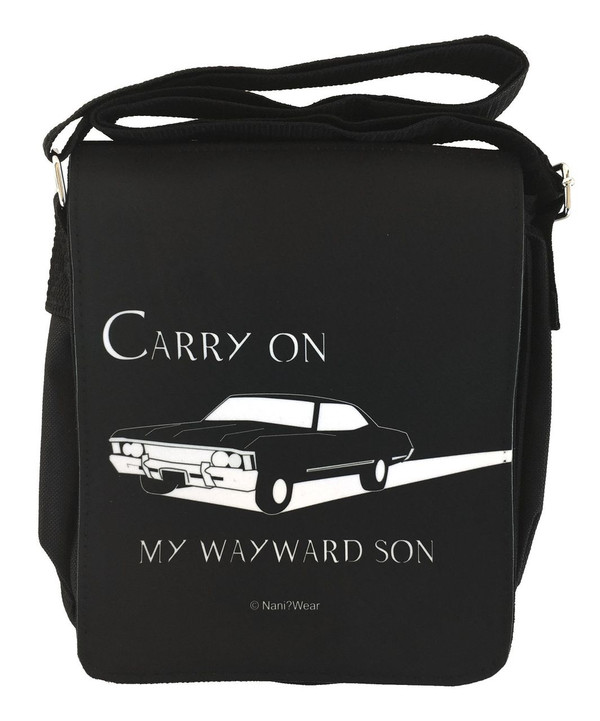 Supernatural Inspired Small Messenger Bag: Carry On Wayward Son