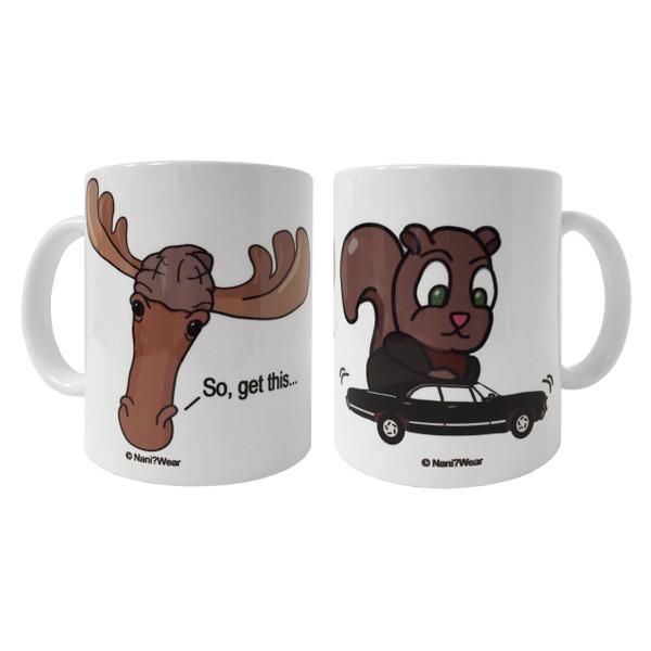 Supernatural Moose & Squirrel Double-Sided Geek Mug
