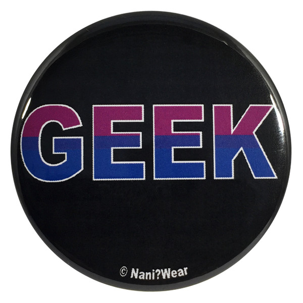 Bisexual Pride Flag Geek 2.25 Inch Button