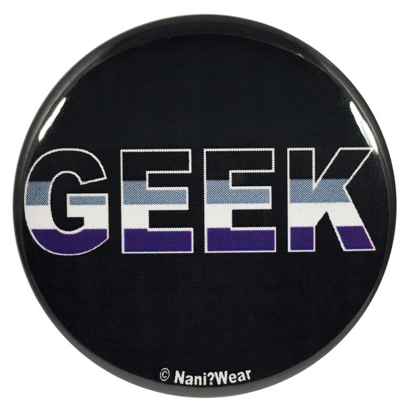 Asexual Geek Pride 2.25 Inch Button
