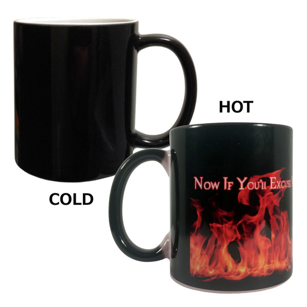 Supernatural Crowley Color Change Mug A Little Hell to Raise
