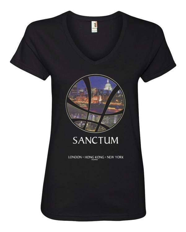 Doctor Strange Women's V-Neck Fitted T-Shirt Sanctum