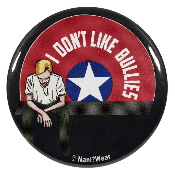 Captain America 2.25 Inch Geek Button I Don't Like Bullies