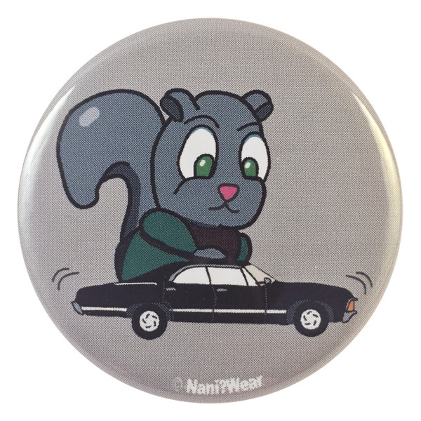 Supernatural Dean Winchester Squirrel with Baby  2.25 Inch Button
