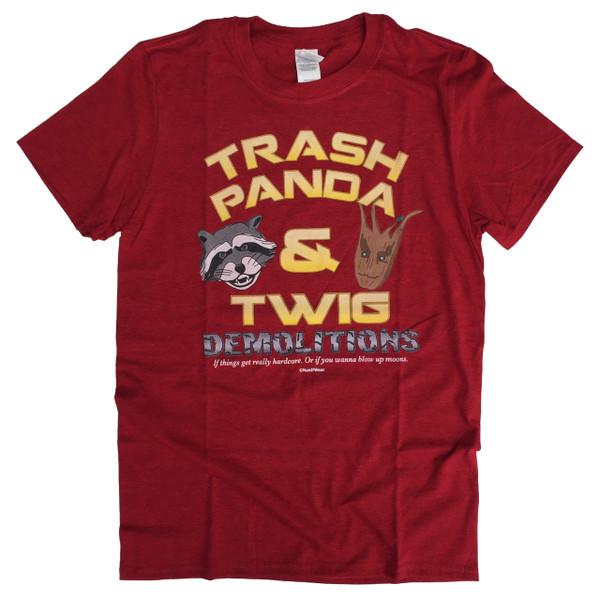 Rocket Raccoon and Groot Geek T-Shirt Trash Panda & Twig