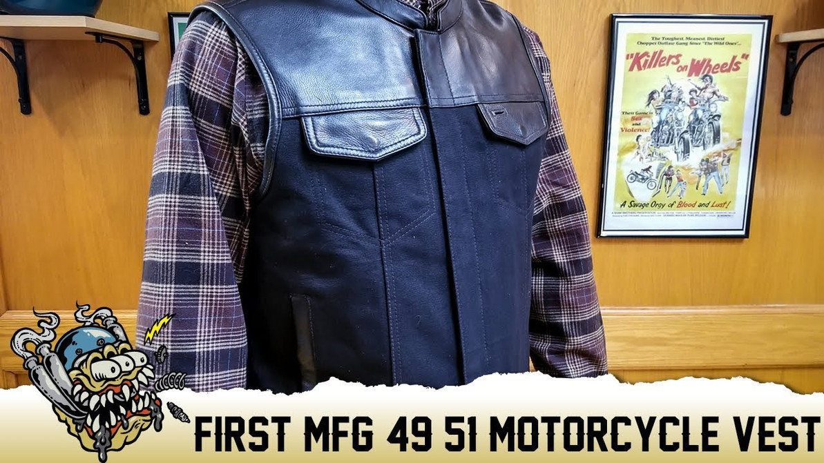 First Mfg 49/51 Motorcycle Vest