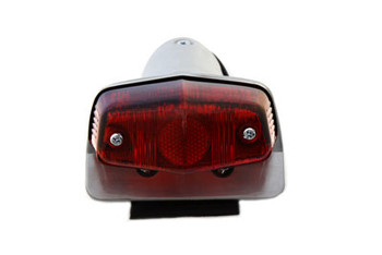 V-Twin - Motorcycle Lucas Style Small Tail Light Cafe Racer - Aluminum
