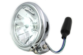 "Chrome 5 3/4"" Bottom Mount Headlight 55/60W"