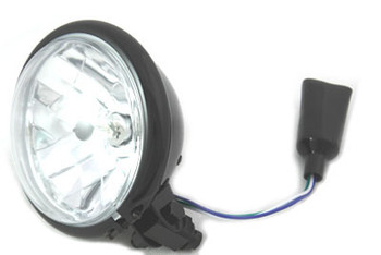 "Black 5 3/4"" Bottom Mount Headlight 55/60W"