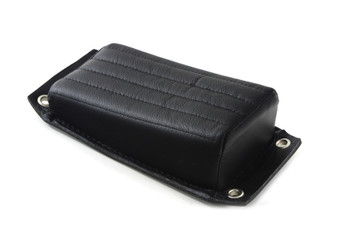 Motorcycle Rear Passenger Pillion Pad Tuck and Roll Leather