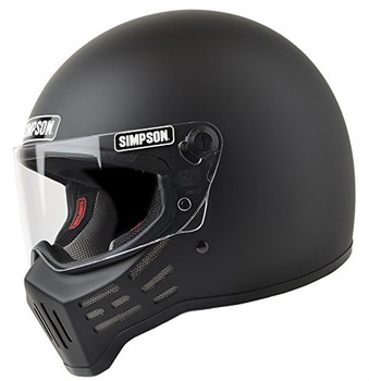 Simpson Helmets - M30 DOT Approved Helmet - Matte Black