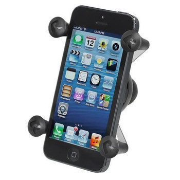 RAM Mounts - RAP-SB-187-UN7U EZ-Strap Rail Mount w/ Universal X-Grip Cell Phone Holder