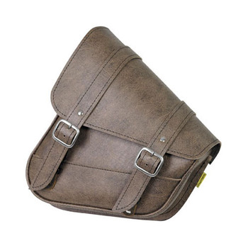 Willie and Max - Revolution Universal Swingarm Saddlebags - Brown - Left Side