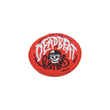 "Deadbeat Customs - Red Patch - 2"" Diameter"