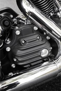 EMD - Ribbed Transmission Cover fits Big Twin '07-Up & '06 & Up Dyna - Black