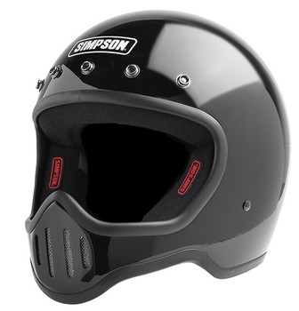Simpson Helmets - M50 DOT Approved Helmet - Gloss Black