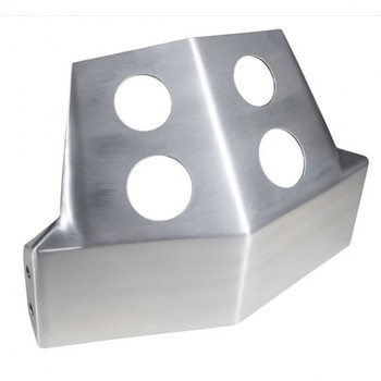 Speed Merchant - Dyna and FXR Skid Plate Aluminum - Fits '82-'94 and '99-'00 FXR, '91-'05 and '06-'Up Dynas