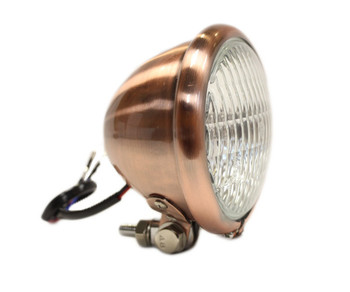 "Motorcycle Supply Co. - Copper 4.5"" Headlight - Clear Lens"