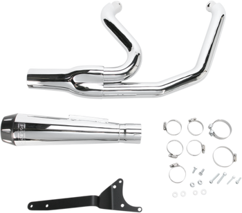 Bassani - Road Rage 2-into-1 Exhaust Systems Chrome, Short - Fits  '84-'94, '99-'00 FXR