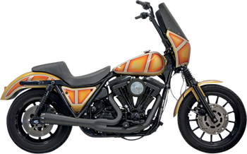 Bassani - Road Rage 2-into-1 Exhaust Systems Black, Short - Fits  '84-'94, '99-'00 FXR